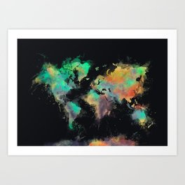 world map 107 #worldmap #map Art Print