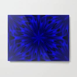 Midnight Blue Abstract 4 Metal Print