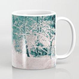 Winter wonderland. Halftone effect Coffee Mug