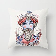 King of the Seas Throw Pillow