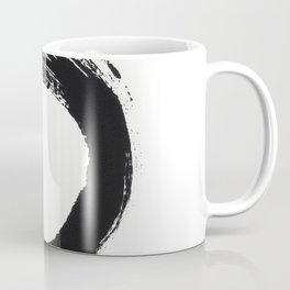 Zen Circle Black and White Print Coffee Mug