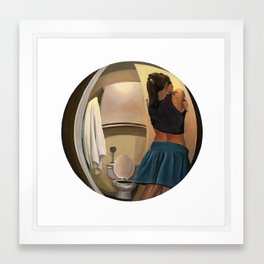 6:32 PM Framed Art Print