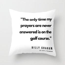 16   | Golf Quotes | 190606 Throw Pillow