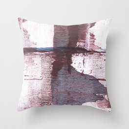 Gray claret Throw Pillow