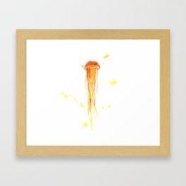 Tangerine Squishy Framed Art Print