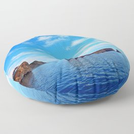 Perce Rock and Cliff Floor Pillow