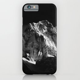 Sun covered mountain iPhone Case