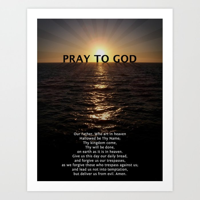 Our Father Prayer Art Print