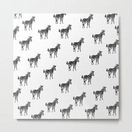 ZEBRA PATTERN BLACK AND WHITE MULTI TIERED Metal Print