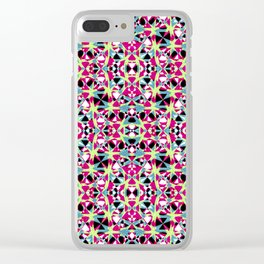 Multicolored Abstract Geometric Pattern Clear iPhone Case