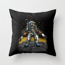 Texas Chainsaw Astronaut Throw Pillow