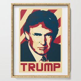 Donald Trump Retro Propaganda Serving Tray
