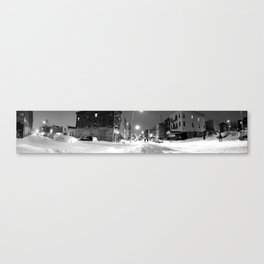 late night stroll in the snow Canvas Print