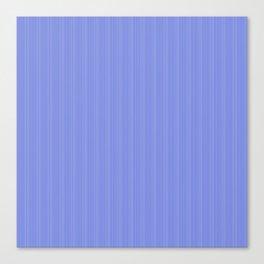 Cobalt Blue and White Vertical Thin Pinstripe Pattern Canvas Print