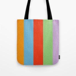 VINTAGE RETRO PATTERN VERTICAL BARS Tote Bag