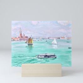 Albert Marquet - Venise, Le Vaporetto - Venice, The Vaporetto Mini Art Print