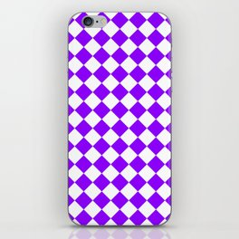 Diamonds - White and Violet iPhone Skin