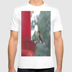 Hummingbird w/ bokeh White Mens Fitted Tee MEDIUM