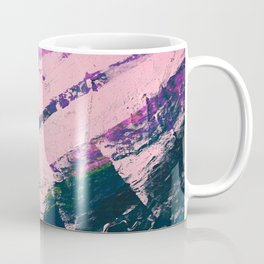 Wonder. - A vibrant minimal abstract piece in jewel tones by Alyssa Hamilton Art Coffee Mug