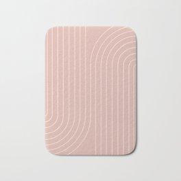 Minimal Line Curvature - Vintage Pink Bath Mat
