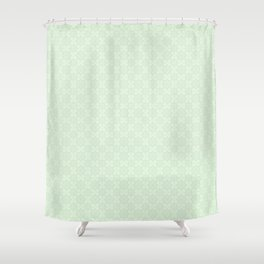 Vintage chic abstract green floral mandala gradient Shower Curtain