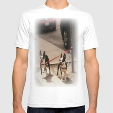 Boston Terriers ~ amped up for action! Mens Fitted Tee SMALL White