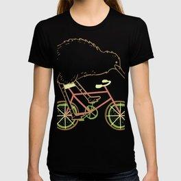Cycle New Zealand Funny Kiwi on a Bicycle Design Idea design design T-shirt
