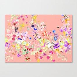 Soft bunnies pink Canvas Print