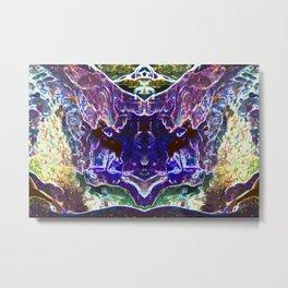 Abstract Trippy Waterfalls Metal Print