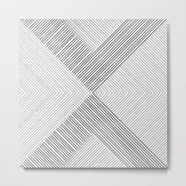 Stripe Geometric Arrow Metal Print