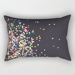 Sprinkles - Vintage Black Rectangular Pillow
