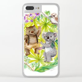 Australian Animals Party Clear iPhone Case