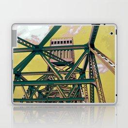 Main street bridge art print - Jacksonville, Florida - industrial steel beauty Laptop & iPad Skin