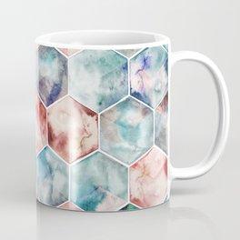 Earth and Sky Hexagon Watercolor Coffee Mug