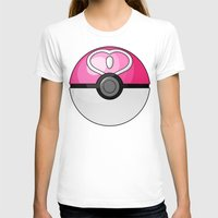 pokeball T-shirts featuring Love Pokeball by Amandazzling