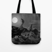 crane Tote Bags featuring Crane by JPeG