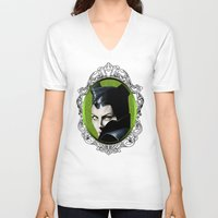 maleficent V-neck T-shirts featuring Maleficent by Tish