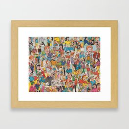 Archie Comics Collage #2 Framed Art Print