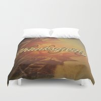 thanksgiving Duvet Covers featuring Thanksgiving   by SeraphimChris