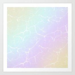 Rainbow water Art Print