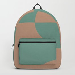 Sandstorm Beige Dark Pastel Green Circle Design 2 Behr 2021 Color of the Year Canyon Dusk Regal View Backpack