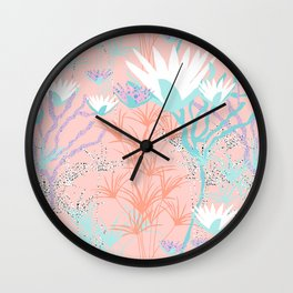 Lotus + Papyrus Garden Wall Clock