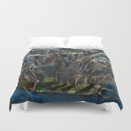 The Worlds Capital (oil on canvas) Duvet Cover