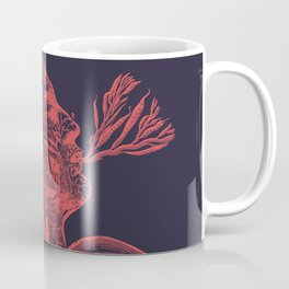 Octopussy Man under the Sea Abstract Concept Art Coffee Mug