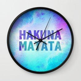 Hakuna Matata III Wall Clock