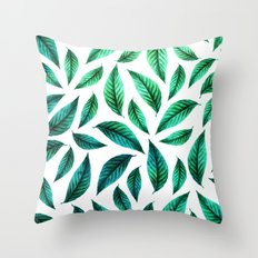 Tropical Foliage Pattern #society6 #decor #buyart Throw Pillow
