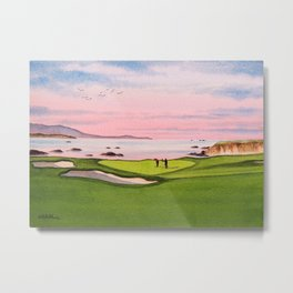 Pebble Beach Golf Course 8th Hole Metal Print