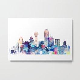 Dallas Texas Blue Skyline Metal Print