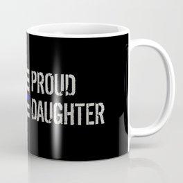 Police: Proud Daughter (Thin Blue Line) Coffee Mug
