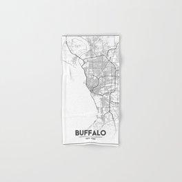 Minimal City Maps - Map Of Buffalo, New York, United States Hand & Bath Towel